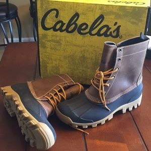 New Cabela's Men's Icon Lace Up Duck Boots 8 Brown